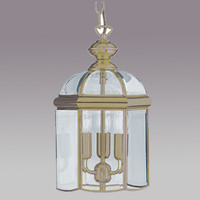 S917133AB 3 Light Antique Brass Coach Lantern