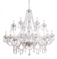 43470 18 Light Crystal Chandelier CHROME