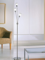 FPS4180023 3 Light Floor Lamp Satin Nickel