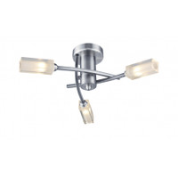 DROM100346 3 LIGHT Ceiling Light SATIN CHROME