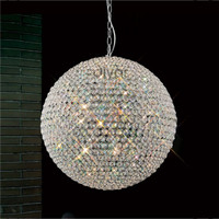 Diyas IL30195 Ava 9 Light Pendant chrome 60cm Diameter