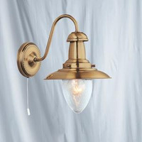 S9153311AB Fisherman Antique Brass Wall Light