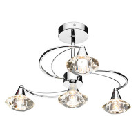 Dar LUT0450 Luther 4 Light Polished Chrome Ceiling Light