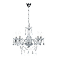 43467  5 Light Crystal Chandelier