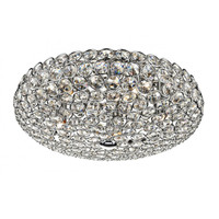 Dar FRO5450 FROST Crystal Chrome Ceiling Light