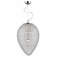 Dar FRO0550 FROST 5 Light Crystal Chrome Pendant