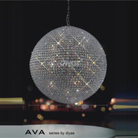 Diyas IL30196 Ava 18 Light Pendant chrome 1 M Diameter