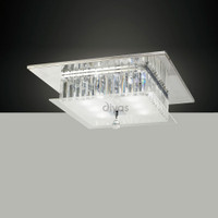 1530246 6 Light Chrome Crystal Flush
