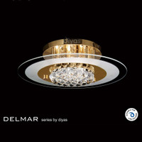 DLI1532021 4 Light French Gold Asfour Crystal