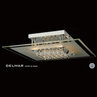 Diyas IL30024 Delmar 6 Light Chrome Asfour Crystal