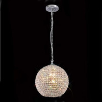 Diyas IL30192 AVA 5 Light Chrome Crystal Pendant