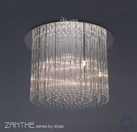 Diyas IL30013 Zanthe 10 Light Chrome Flush Ceiling Light