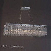 Diyas IL30012 Zanthe 10 Light Glass Pendant
