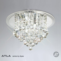 Diyas IL30008 ATLA 4 Light Crystal Ceiling Light