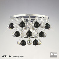Diyas IL30014BL ATLA 2 Light Crystal Wall Light