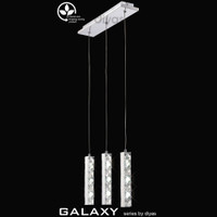 Diyas IL80034 Galaxy Triple Led Chrome Pendant
