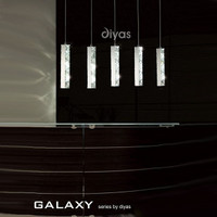 Diyas IL80035 Galaxy Four Light Led Chrome Pendant
