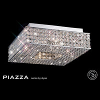 Diyas IL30432 Piazza 8 light Flush Crystal Ceiling Light S/O