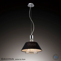 1530042BL 2 Light Black Pendant
