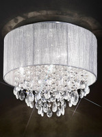 Franklite FL2281/4 Royale 4 Light Silver Shade Ceiling Light