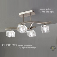 Mantra M0967 Cuadrax 4 Light Chrome Semi-Flush