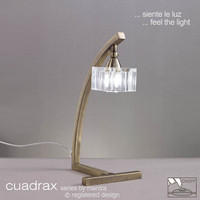Mantra M2365AB Cuadrax Antique Brass Table Lamp