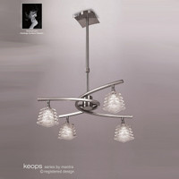 Mantra M0012 Keops 4 Light Satin Nickel Pendant