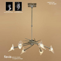 Mantra M0301AB Flavia 6 Light Antique Brass Pendant