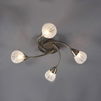 Dar VIL0475 Villa 4 light Ceiling light ANTIQUE BRASS