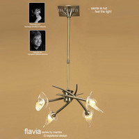 Mantra M0302AB Flavia 4 Light Antique Brass Pendant