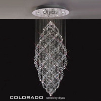 1530784 9 Chrome/Crystal Ceiling Pendant