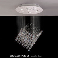 Diyas IL30783 Colorado 7 Light Chrome/Crystal Pendant Light
