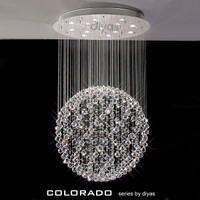 Diyas IL30782 Colorado 13 Light Chrome/Crystal Ceiling Pendant