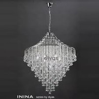 1530773 7 Light Crystal Ceiling Pendant Chrome