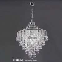 1530772 5 Light Crystal Pendant Polished Chrome