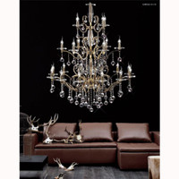 Diyas IL30226+4+12 Zinta 22 Light Crystal Chandelier Gold