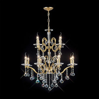 DLI1530228+4 12 Light Crystal Chandelier Gold