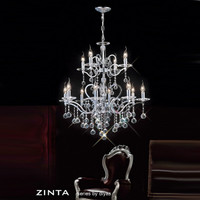 DLI15301284 12 Light Crystal Chandelier Chrome
