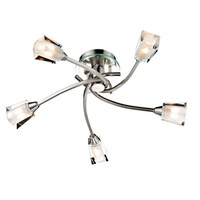 DSUA100546 5 Light Ceiling Light Satin Nickel