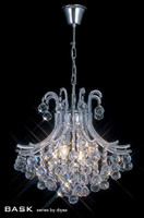 Diyas IL30016 4 Light Bask Crystal Chandelier Polished Chrome