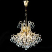 Diyas IL30216BA 4 Light Bask Brass Crystal Chandelier