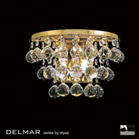 Diyas IL30214 Atla 2 Light Modern Crystal Wall Light Brass