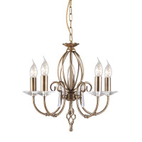 Elstead AG5-AB Aegean Antique Brass 5 Light Chandelier