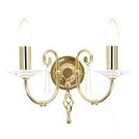 Elstead AG2-PB Aegean Polished Brass 2 Light Wall Light
