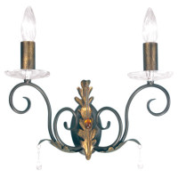 Elstead AML2-B/G Amarilli 2 Light Bronze Gold Wall Light