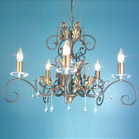 Elstead AML5-B/G Amarilli 5 Light Bronze/Gold Patina Chandelier