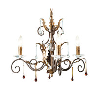 Elstead AML3-B/G Amarilli 3 Light Bronze/Gold Patina Chandelier