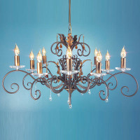 Elstead AML10-B/G Amarilli 10 Light Bronze/Gold Patina Chandelier