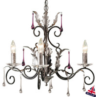 Elstead AML3-B/S Amarilli 3 Light Black/Silver Patina Chandelier