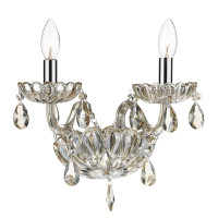 Dar RAP0906 Raphael 2 Light Crystal Wall Light